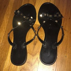 Valentino flip flops size 38